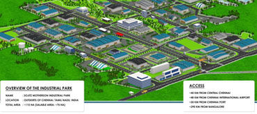 Development of Master Plan and Detailed Engineering for Sojitz Motherson Industrial Park, Kanchipuram, Tamil Nadu